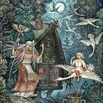Гуси-лебеди, русская народная сказка с картинками