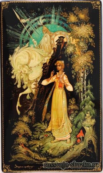 белый-конь-василиса-прекрасная-русская-сказка