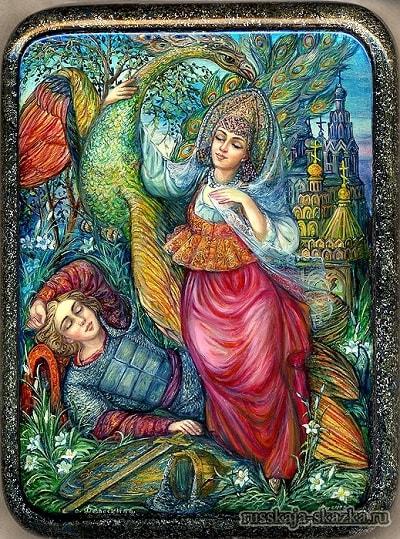 Иван-царевич и Елена Прекрасная с ним