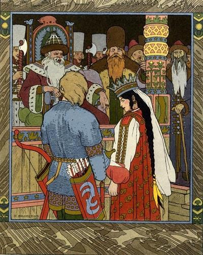 Иван-царевич вернулся к отцу с невестой