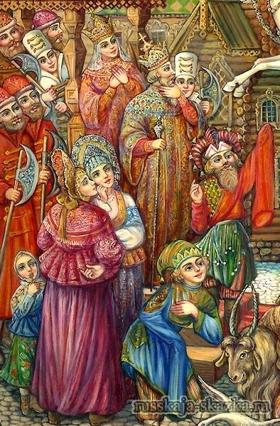 Царь вышел на крыльцо и говорит , добрые сказки для маленьких ребят малышей детского сада и школьного возраста и их родителей, мама папа, бабушка дедушка вся семья