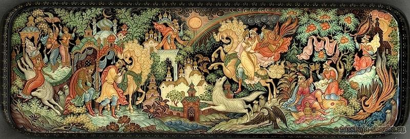 Русские сказки в лаковой миниатюре