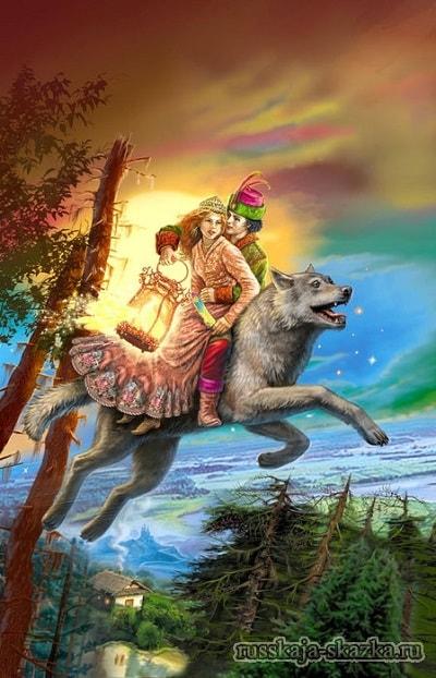 Иван-царевич и серый волк русские сказки