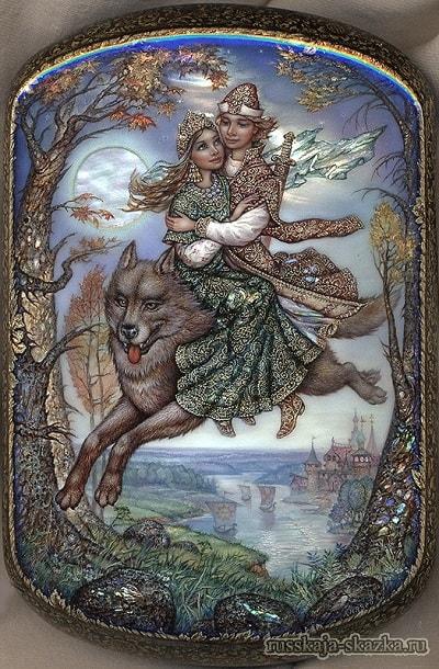 Иван-царевич и серый волк красочные картинки