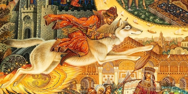 Иван-царевич верхом на волке