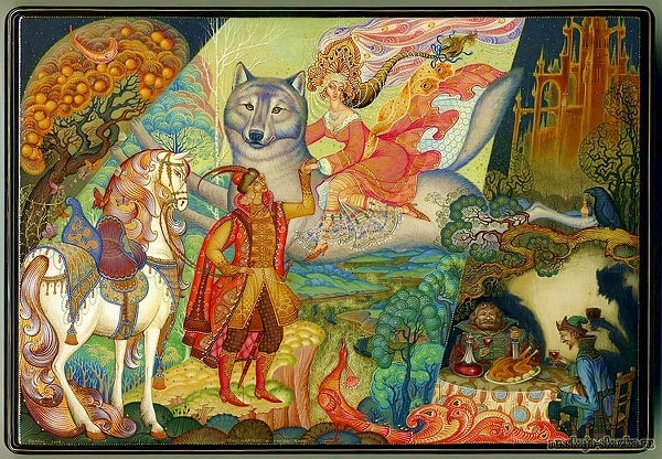 красивые картинки сказка иван царевич и серый волк