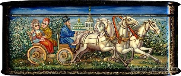 конец сказки Сивка бурка, русская народная старая сказка Сивка-бурка вещая каурка про Ивана-дурака и его братьев, царя принцессу и волшебного коня кольцо поцелуй печать