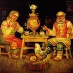 Курочка Ряба, детская сказка с картинками