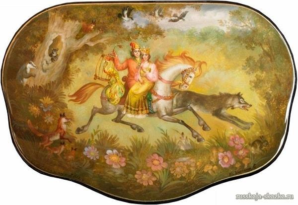 Иван-царевич с Еленой на сером волке