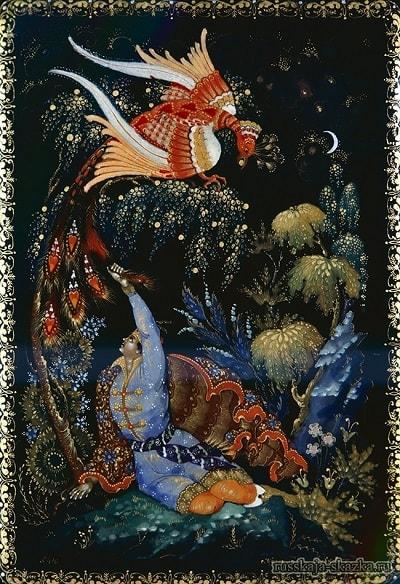 Иван-царевич поймал жар-птицу за хвост
