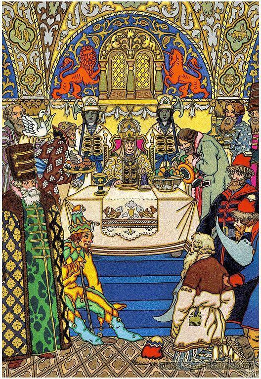 привели-старика-к-сарухе-царице-русская-сказка-пушкин