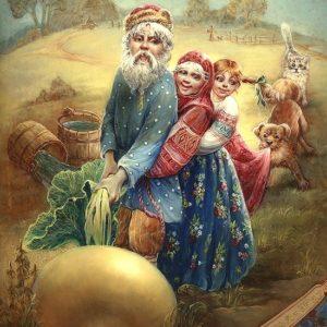 Репка, русская народная сказка, красивые иллюстрации