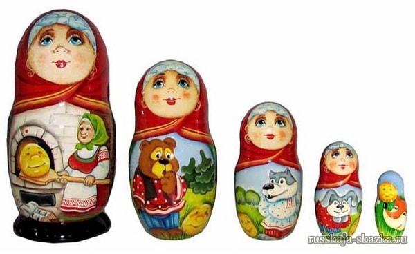 "Русская матрёшка сказка ""Колобок"""