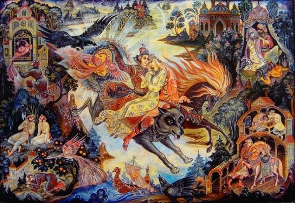 Серый волк помог Ивану-царевичу