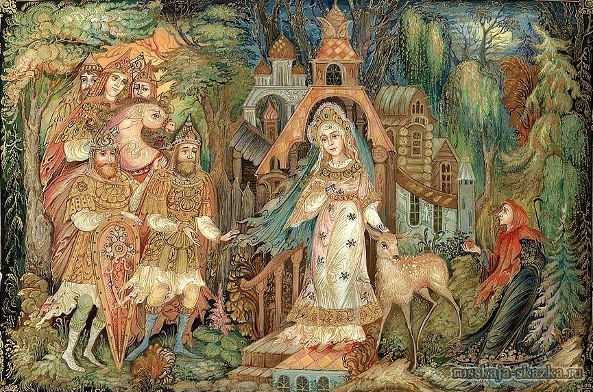 семь-богатырей-мёртвая-царевна-русская-сказка