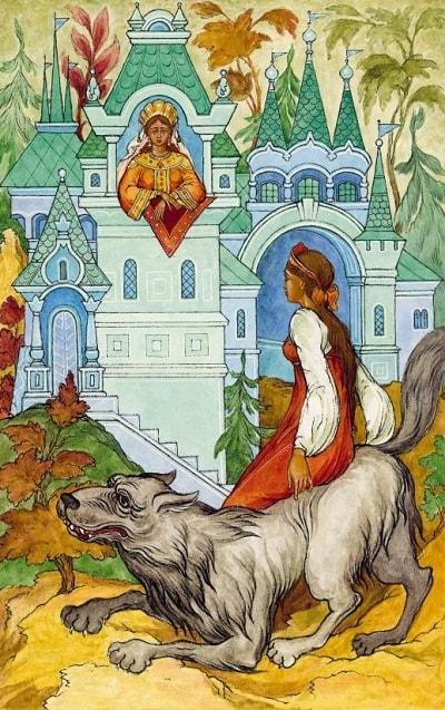 Серый волк украл Елену Прекрасную