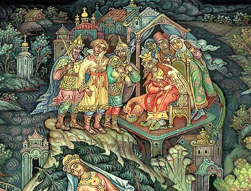 Ивана царевича привели к царю Афону