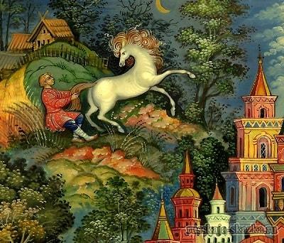 - Чего велишь? , русская народная старая сказка Сивка-бурка вещая каурка про Ивана-дурака и его братьев, царя принцессу и волшебного коня кольцо поцелуй печать