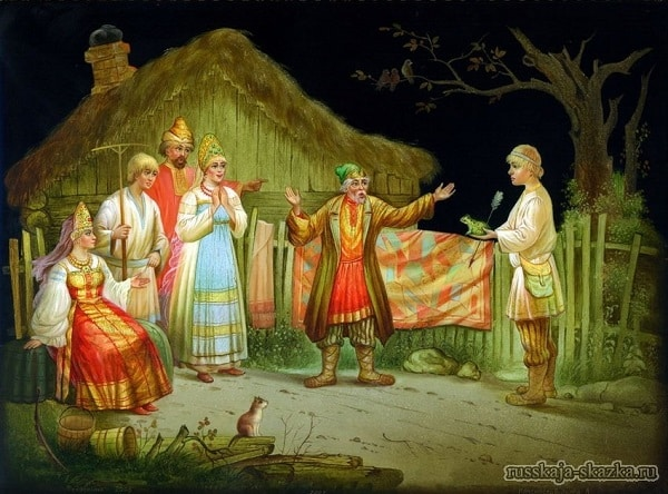 skazka-carevna-lyagushka-prishli-bratya-k-otcu
