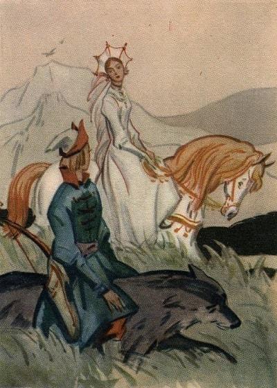 Иллюстрации Иван-царевич и серый волк сказка