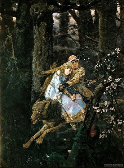 Васнецов Иван-царевич и серый волк