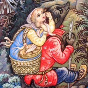 Маша и медведь, читать сказку детям с картинками