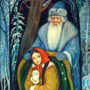Морозко, русская народная сказка , много картинок