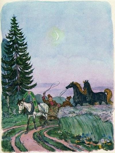 Взяли двух коней тайком