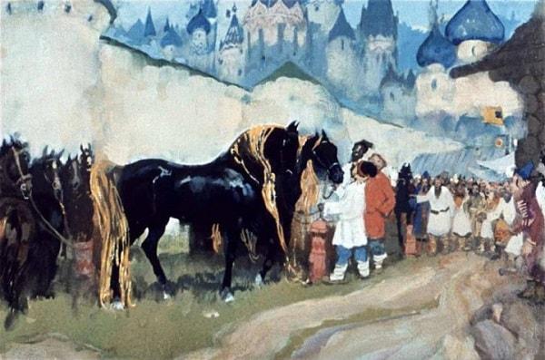 Становились в конный ряд