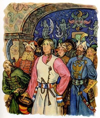 Вот Иван к царю явился