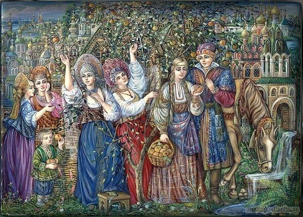 Добрый молодец женился на Хаврошечке сказка о Хаврощечке Крошечке и её сёстрах Трёхглазке Двухглазке и Одноглазке с картинками читать крупный шрифт