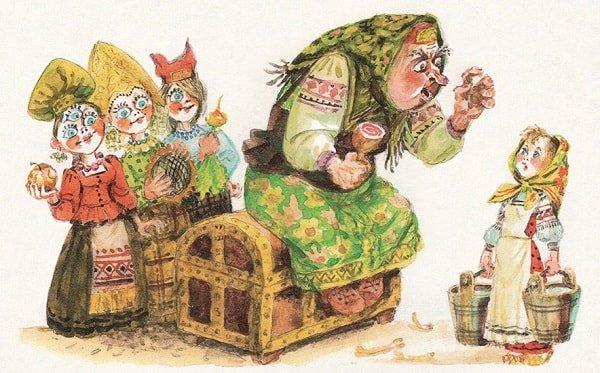 слова доброго никогда не слыхала любимая наша грустная сказка для всей семьи о Хаврошечке и коровушке Бурёнушке читать бесплатно на сайте сказок russkaja-skazka.ru