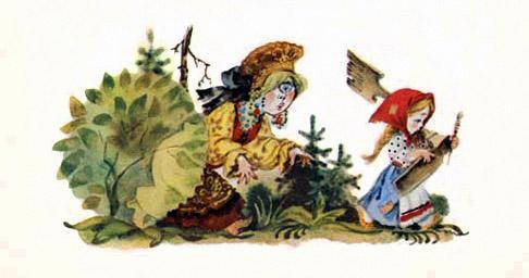 Пошла Одноглазка с Хаврошечкой в лес русская народная сказка о доброй трудолюбивой девушке Хаврошечке её злой мачехе сёстрах отце и коровушке корове яблоне и добром молодце женихе