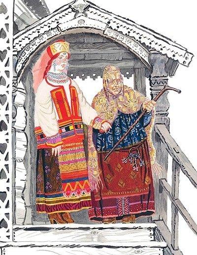 послала третью дочь — Триглазку краткое содержание сказки Хаврошечка с картинками много красочных ярких картинок и рисунков для ребят маленьких и больших