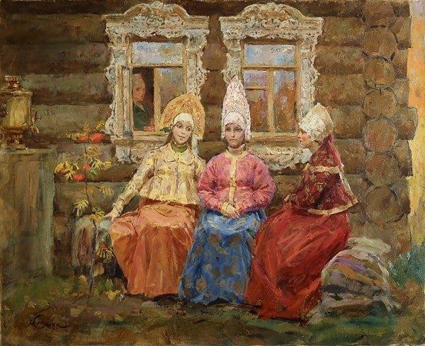 Одноглазка, Двуглазка, Триглазка бабушки и дедушки любят читать внукам добрую старую народную сказку о девочке Крошечке Хаврошечке и коровушке корове