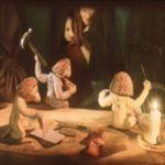 Маленькие человечки, братья Гримм, диафильм 1989 год