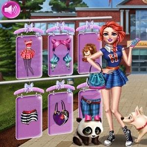 флеш игра, одежда для принцессы - Princess Dress Up College Prep