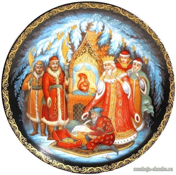 Изумрудец вынимает И в мешочек опускает, русские народные промыслы, яркие снимки, фотографии, красивые картинки с сюжетами сказки Пушкина о царе Салтане