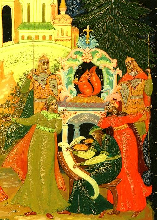 Белка, золотой орех, русский язык и литература Пушкин А.С., сказки, детская литература