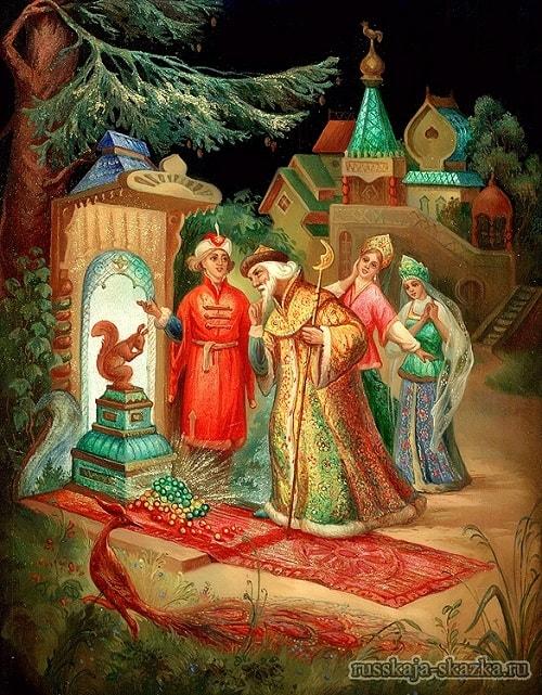 И засеян двор большой Золотою скорлупой, детям легко читать сказку о царе Салтане, когда в ней много картинок и крупный шрифт текста