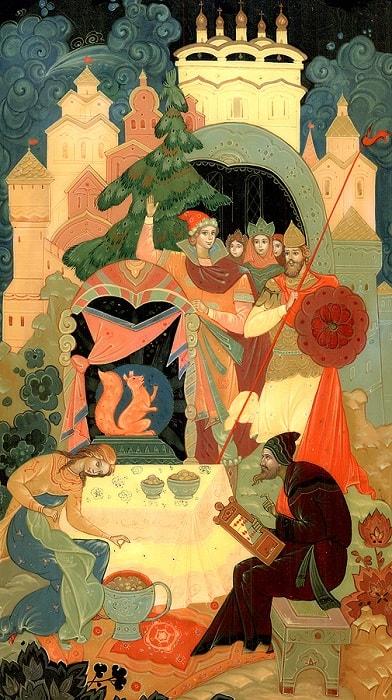 изумрудец вынимает, произведения великого русского поэта Пушкина для детей читать с картинками