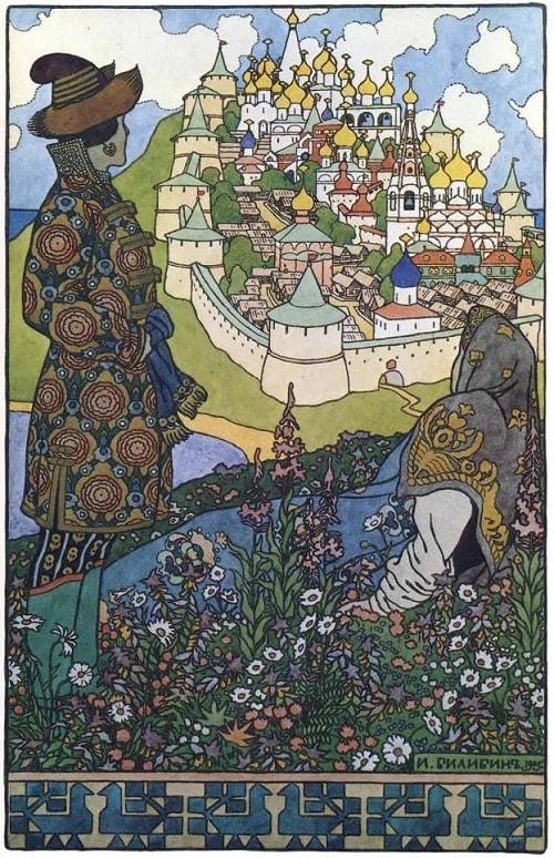 Зворыкин художник, Сказка о царе Салтане, читать онлайн с картинками, лаковая миниатюра Палех, Федоскино, Мстера, Холуй, иллюстрации художников
