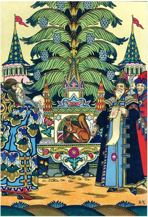 Борис Зворыкин, белка песенки поёт, сказка о царе Салтане с красивыми картинками