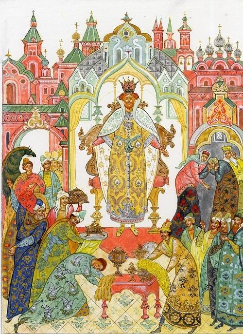 Сказка о царе Салтане, сказка в стихах, русский язык и литература Пушкин А.С., сказки, детская литература