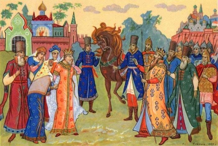 встреча царя Салтана, открытка
