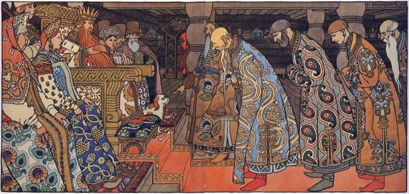 Билибин, иллюстрации, на сайте russkaja-skazka.ru много разных сказок , диафильмов, мультфильмов, фильмов и аудиосказок