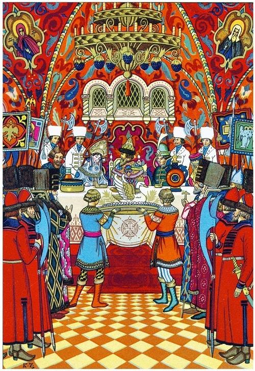 Художник Борис Зворыкин, любимая наша сказка о царе Салтане, весь текст полностью читать бесплатно и без регистрации онлайн прямо сейчас с картинками и крупным шрифтом