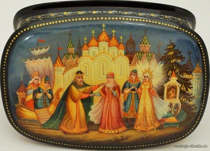 царь Салтан встретил царевну, Волшебная добрая сказка для детей детского сада и школьного возраста о том как заточили царевну с ребёнком в бочку и кинули в море океан