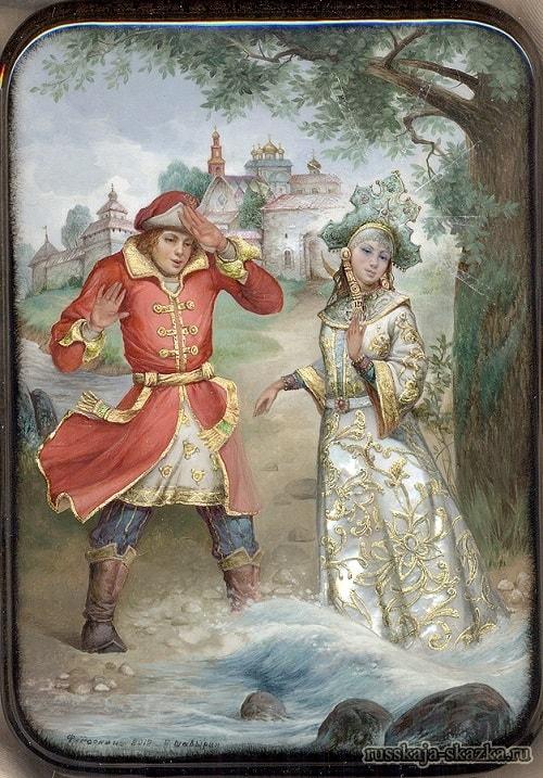 царевна лебедь, лаковая миниатюра Федоскино, сказки русских писателей , большой выбор разных сказок для чтения и просмотра, также можно прослушать аудиосказки, аудиокниги