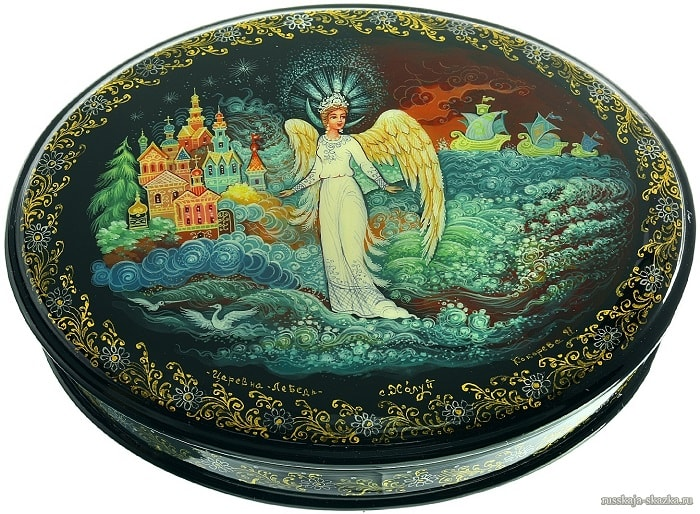 царевна лебедь, произведения великого русского поэта Пушкина для детей читать с картинками
